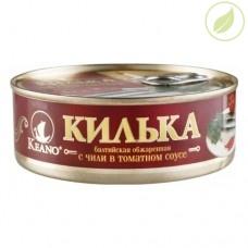 Килька балтийская с чили в томатном соусе, «5 морей», 240г