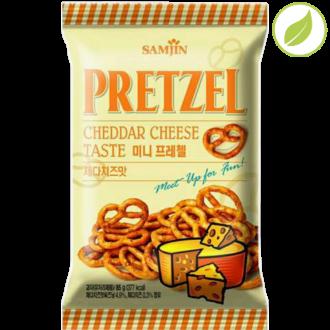 """Крендель """"Pretzel"""" со вкусом сыра чеддер, """"Samjin"""", 85г"""