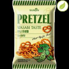 """Крендель """"Pretzel"""" со вкусом васаби, """"Samjin"""", 85г"""