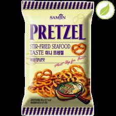 """Крендель """"Pretzel"""" со вкусом жареных морских продуктов, """"Samjin"""", 85г"""