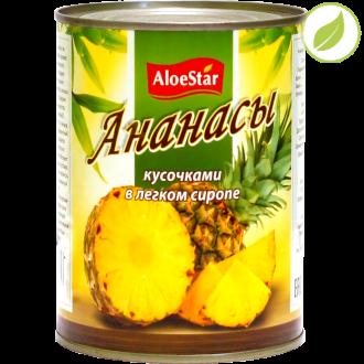 "Ананасы кусочками, ""Aloestar"", 580 мл"