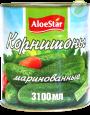 """Корнишоны маринованные """"Aloestar"""" 3100 мл"""