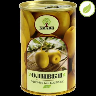 """Зеленые оливки без косточки, """"Amado"""" 300 г"""