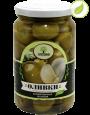 """Зеленые оливки с чесноком, """"Amado"""" 350 г"""