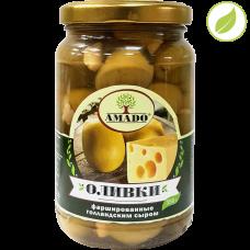 """Зеленые оливки с голандским сыром, """"Amado"""", 350 г"""