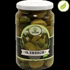 """Зеленые оливки с корнишонами, """"Amado"""", 350 г"""
