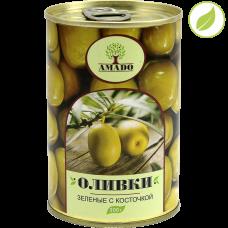 """Зеленые оливки с косточкой, """"Amado"""" 300 г"""