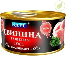 """Свинина тушёная, """"Барс"""",  325г"""