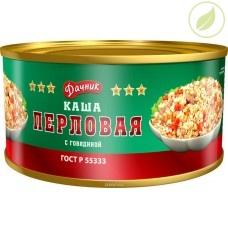 """Каша перловая с говядиной, """"Дачник"""", 325г"""