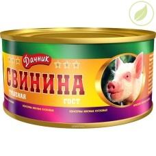 """Свинина тушёная, """"Дачник"""" 325г"""