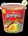 """Картофельное пюре со вкусом говядины, """"Доширак"""" премиум с соусом, 52г"""