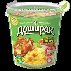 """Картофельное пюре со вкусом курицы, """"Доширак"""" премиум с соусом, 52г"""