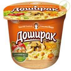 """Картофельное пюре со вкусом грибов, """"Доширак"""", 40г"""