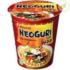 """Лапша быстрого приготовления неогури острая с морепродуктами, """"Nongshim"""" (в стакане), 62 г"""