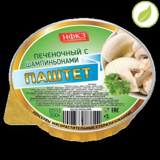 """Паштет печеночный грибной, """"Дачник"""", 100г"""