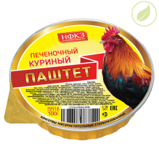"""Паштет печеночный куриный, """"Дачник"""", 100г"""