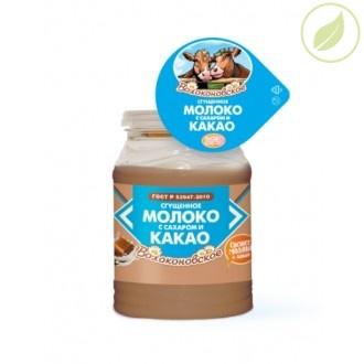 """Молоко сгущенное с сахаром и какао, """"Волоконовское"""", 380г"""