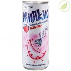 """Напиток милкис со вкусом клубники, """"Лотте"""", 0.25л"""